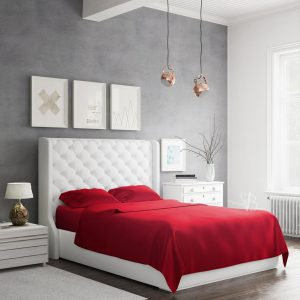Bamboo Sheets Set Red Side