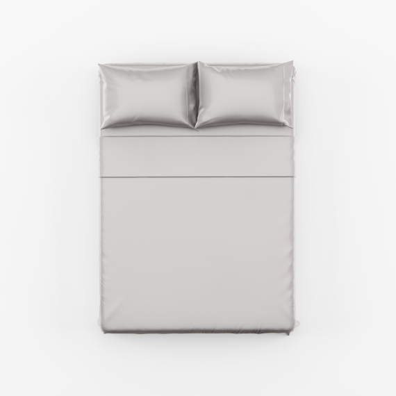 Silver Bed Sheet Set scaled
