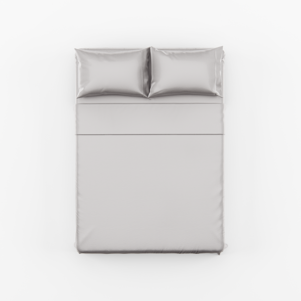 Silver Bed Sheet Set